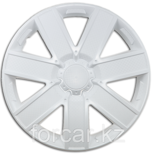 Колпак колесный 14 ГАЛАКСИ белый глянец карбон (4 шт.)