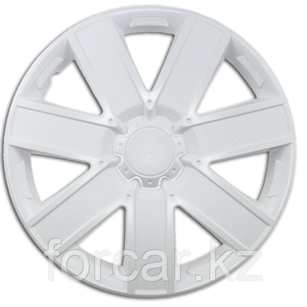 Колпак колесный 14 ГАЛАКСИ белый глянец карбон (4 шт.), фото 2