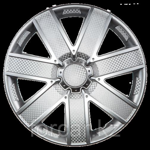 Колпак колесный 16 ГАЛАКСИ серебристый карбон (4 шт.)