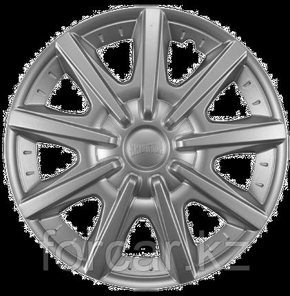Колпак колесный 14 ШАТТЛ серебристый (4 шт.), фото 2
