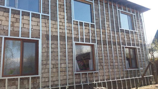 Утепление стен дома 1