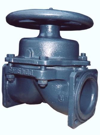 Клапан запорный мембранный футерованный  фланцевый15ч75п1м (75п) 15ч76п