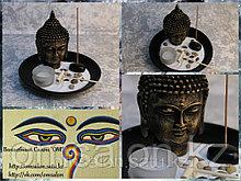 Подсвечник + подставка под благовония, с Буддой