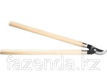 Сучкорез, 640 мм, загнутые лезвия из углеродистой стали, деревянные ручки
