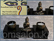 Подсвечник на две свечи, с Буддой