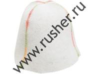 """Шапка Эконом-модель """"Меланж"""" белая. Универсальные шапки"""