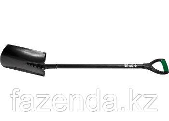 Лопата штыковая, металлический черенок, прямоугольная