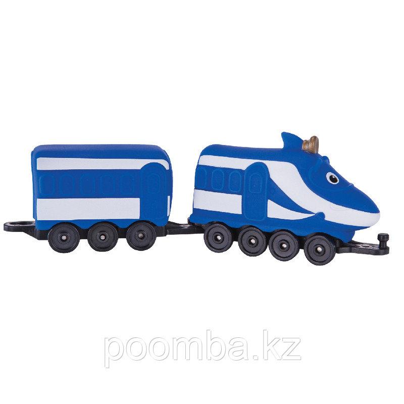 Chuggington Паровозик Ханзо с прицепным вагоном