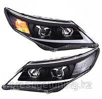 Передние фары на Camry V50 2011-14 USA Lexus style (черный)
