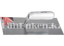 Гладилка из стали с деревянной ручкой и зеркальной полировкой 28х13 см MATRIX 86732 (002)