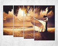 Модульная картина - Романтика на пляже