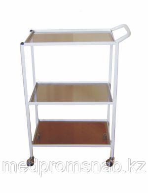 ПС3 – столик процедурный с 3-мя стеклянными полками