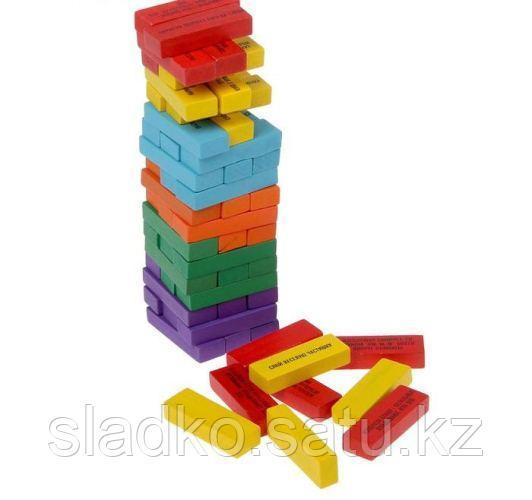 Настольная игра Дженга Падающая башня с заданиями - фото 2