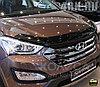 Мухобойка (дефлектор капота) на Hyundai Santa Fe/Хендай санта фе 2012-
