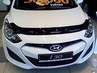 Мухобойка (дефлектор капота) на Hyundai i30/хендай i30 2012-, фото 1
