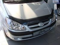Мухобойка (дефлектор капота) на Hyundai Getz/Хюндай Гетц 2006-2010, фото 1