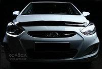 Мухобойка (дефлектор капота) на Hyundai Accent(хюндай акцент) 2010-, фото 1