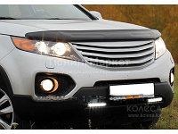 Мухобойка (дефлектор капота) на Kia Sorento (киа соренто) 2009-