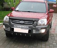 Мухобойка (дефлектор капота) на Kia Sportage (киа спортеж) 2005-2009, фото 1