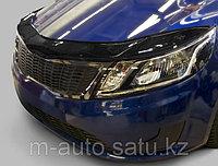 Мухобойка (дефлектор капота) на Kia Rio (киа рио) 2011-, фото 1