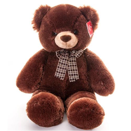 AURORA Игрушка мягкая Медведь коричневый с бантом 69см