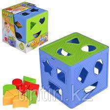 Логический кубик - сортер, 637, фото 2