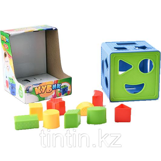Логический кубик - сортер, 637