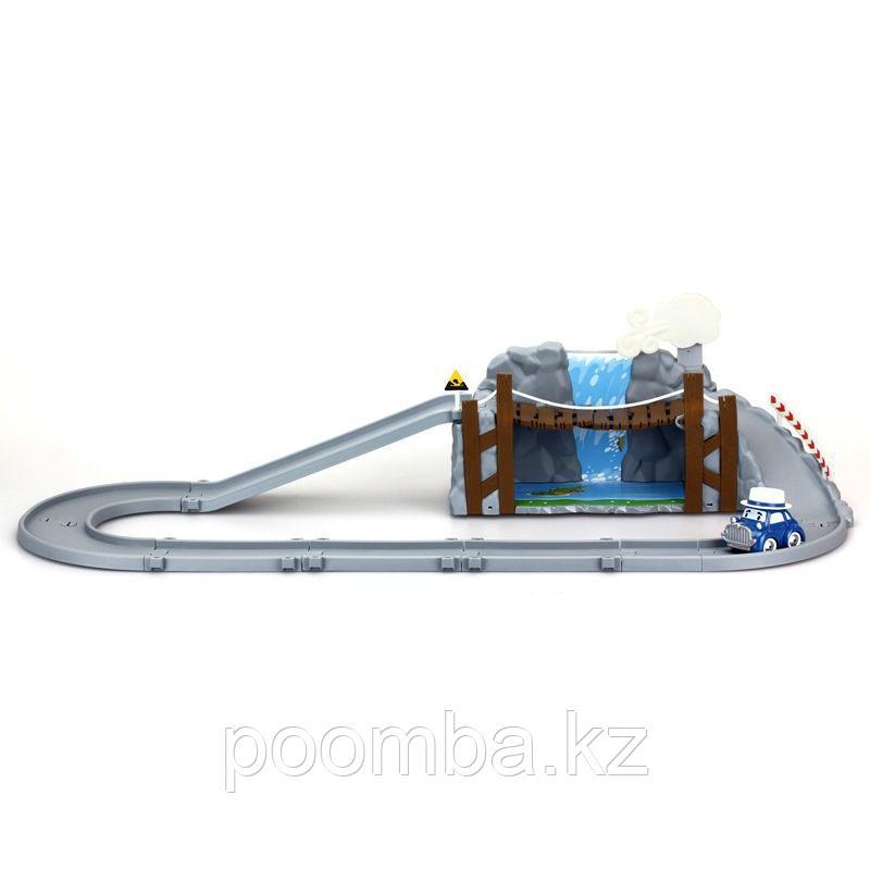 """Игровой набор """"Робокар Поли"""" - Обрушающийся мост с машинкой Масти"""