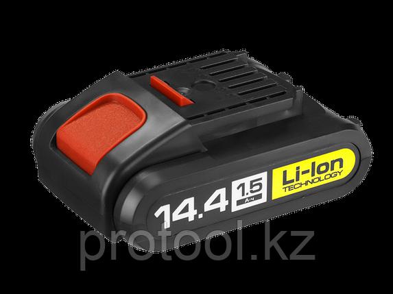 Аккумулятор 14.4В Li-lon для шуруповерта ЗУБР, серии ДА-14.4-2-Ли, фото 2