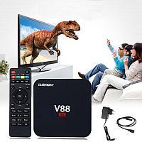 Smart Android TV Box V88 4K - мощный медиаплеер для ТВ, RK3229, 4 ядра, 8Gb, Wi-FI, , фото 1