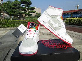 Баскетбольные кроссовки Nike Air Jordan 1 Retro белые, фото 3