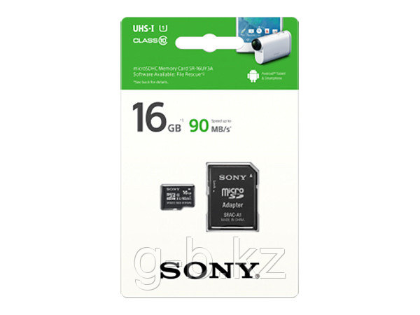 Карта памяти MicroSD 16GB Class 10 U1 Sony SR16UY3AT