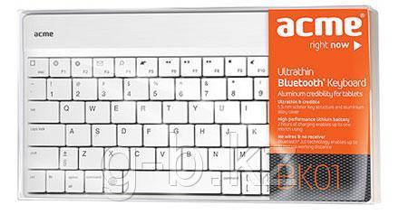 Клавиатура беспроводная Acme BK01 белый
