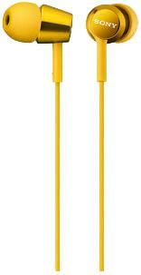 Наушники-вкладыши Sony MDREX150Y.E желтый