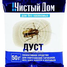 Дуст от тараканов, блох, клопов, муравьев, 50 г