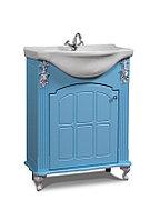 """Тумба под раковину """"650 Версаль"""" белая, голубая, фото 1"""