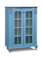 """Комод """"2Д Версаль"""" белый, голубой"""