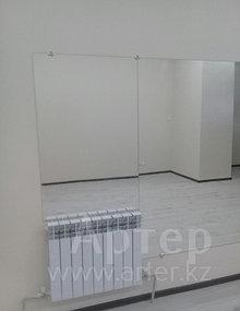 Установка настенных зеркал в танцевальный зал, г. Алматы, апрель 2017 2