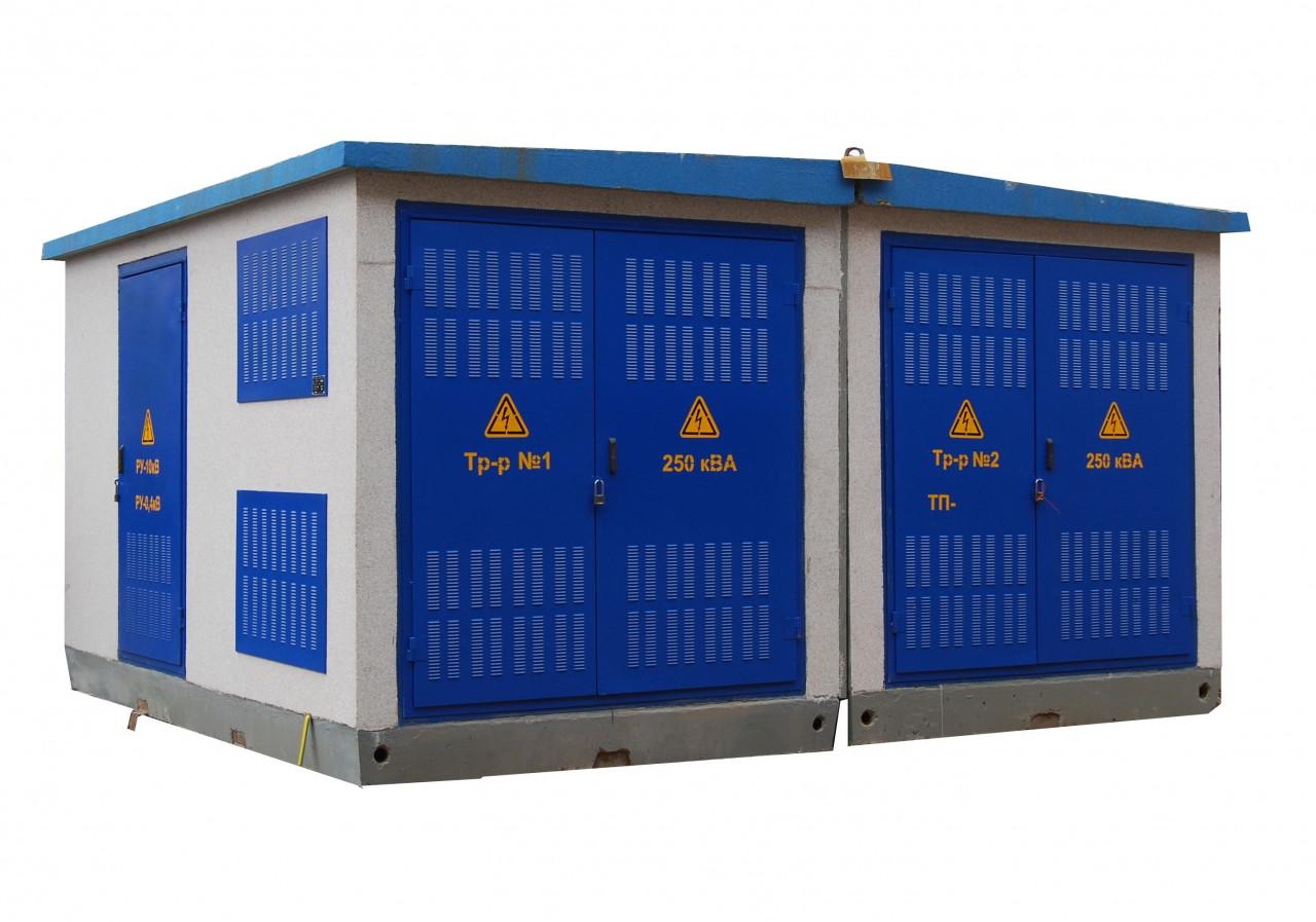 Блочно-модульная трансформаторная подстанция из бетона