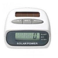 Шагомер электронный на солнечной батарее Solar Pedometer HY-02T [шаги; калории; километры; мили]