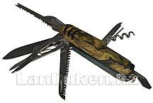 Складной многофункциональный нож Хаки (мультиинструмент)