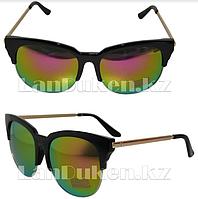 Очки солнцезащитные Бабочка с цветным отливом линз