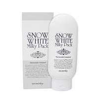 Отбеливающая молочная маска Secret Key Snow White Milky Pack