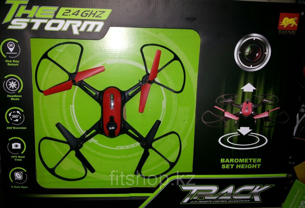 Квадрокоптер The Storm с камерой FPV Real Time и барометром