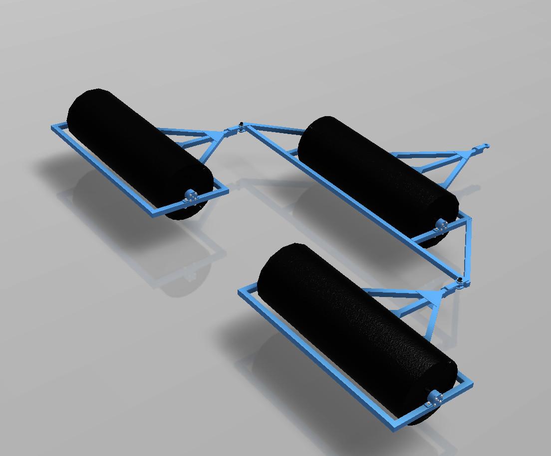 Катки водоналивные КВНП-6 (720) (прицепной)