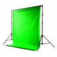 Фото фон тканевый, цвет зеленый, размер 3х6 метра, фото 1