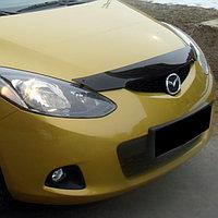Мухобойка/дефлектор капота на Mazda 2/Мазда 2 2009-, фото 1