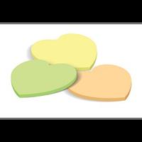 Клейкие листки СЕРДЦЕ, 40 листов, желтый
