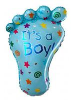 """Фольгированный шар """"Отпечаток ножки"""" (розовая, голубая) 30 см в Павлодаре, фото 1"""