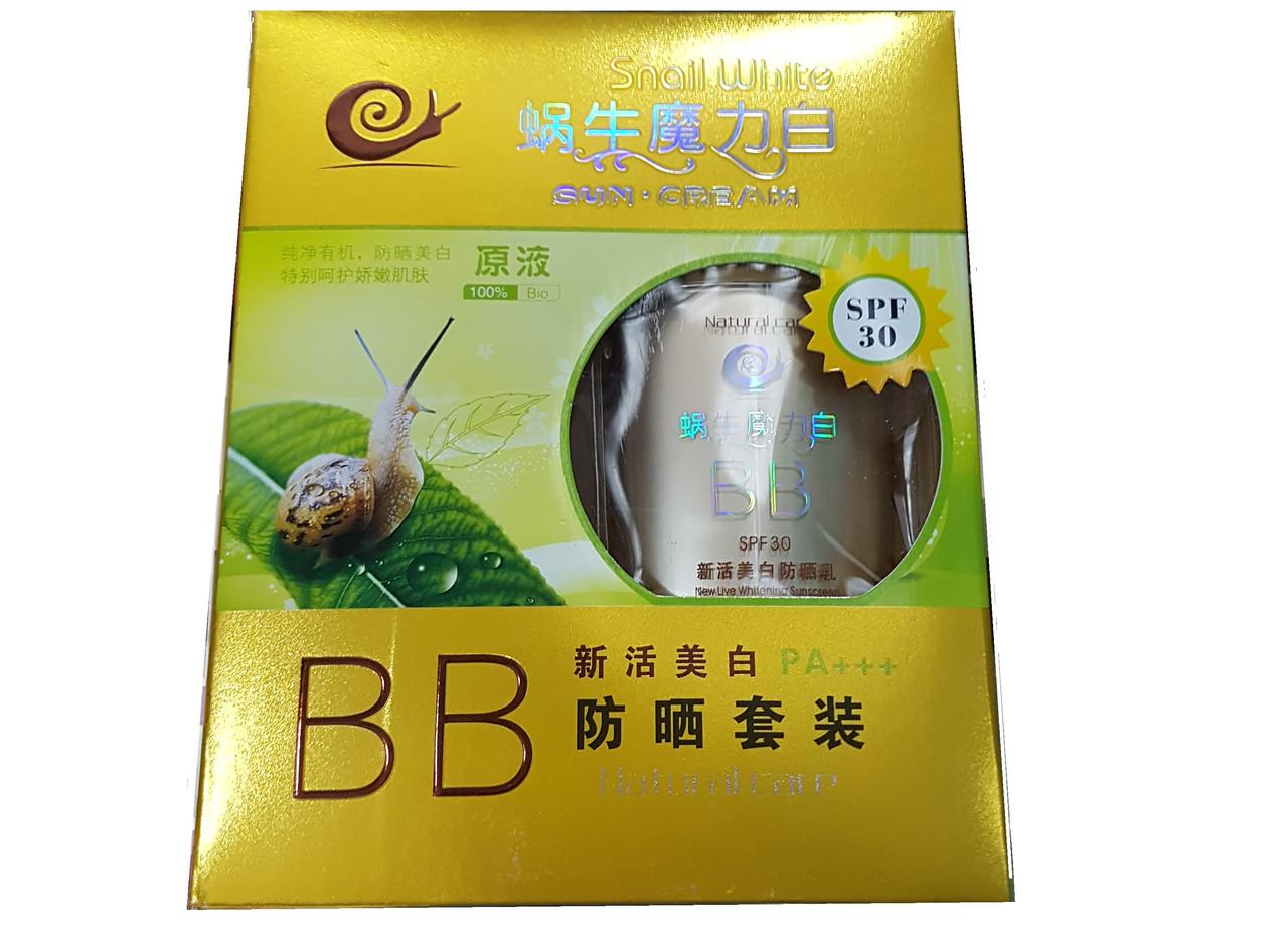 """Тональный BB крем(SPF 30) и основа под макияж """"SnailWhite"""""""